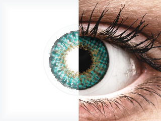 Air Optix Colors - Turquoise - dioptria nélkül (2 db lencse)