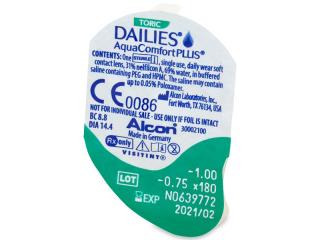 Dailies AquaComfort Plus Toric (90db lencse) - Buborékcsomagolás előnézete