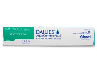 Dailies AquaComfort Plus Toric (90db lencse) - Paraméterek előnézete