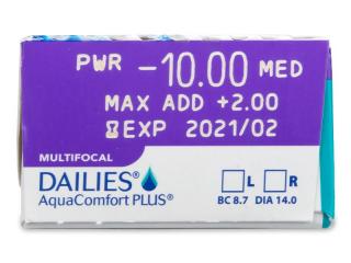 Dailies AquaComfort Plus Multifocal (30db lencse) - Paraméterek előnézete