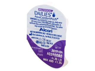 Dailies AquaComfort Plus Multifocal (30db lencse) - Buborékcsomagolás előnézete