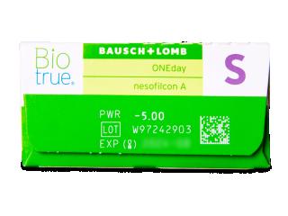 Biotrue ONEday (30db lencse) - Paraméterek előnézete
