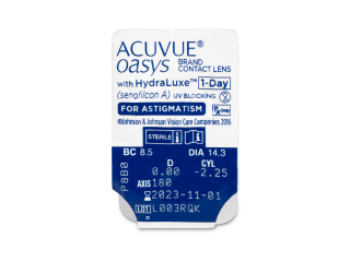Acuvue Oasys 1-Day with HydraLuxe for Astigmatism (30 db lencse) - Buborékcsomagolás előnézete