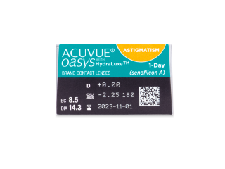 Acuvue Oasys 1-Day with HydraLuxe for Astigmatism (30 db lencse) - Paraméterek előnézete
