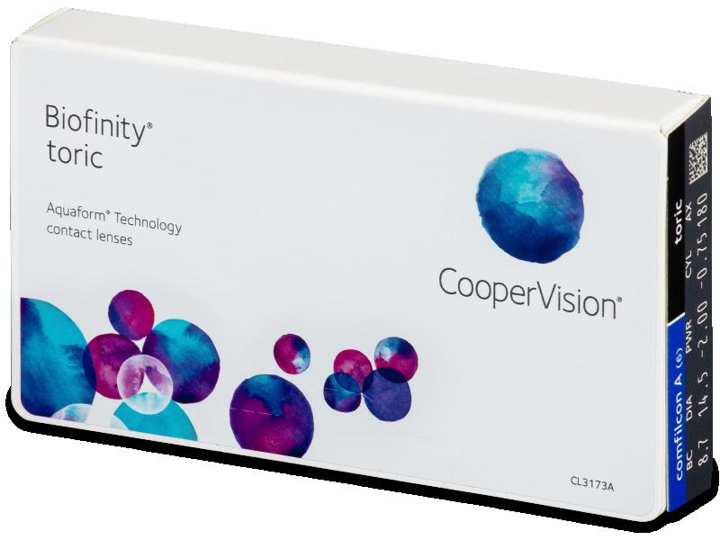 Biofinity Toric (6db lencse) - Tórikus kontaktlencsék