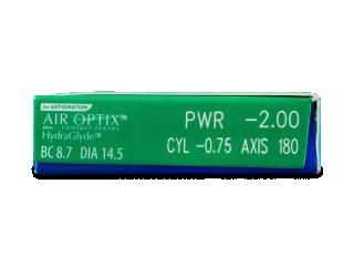 Air Optix plus HydraGlyde for Astigmatism (6db lencse) - Paraméterek előnézete