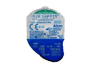 Air Optix plus HydraGlyde for Astigmatism (3 db lencse) - Buborékcsomagolás előnézete