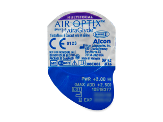 Air Optix plus HydraGlyde Multifocal (6db lencse) - Buborékcsomagolás előnézete