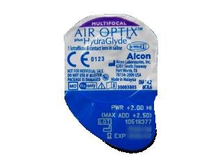 Air Optix plus HydraGlyde Multifocal (3 db lencse) - Buborékcsomagolás előnézete