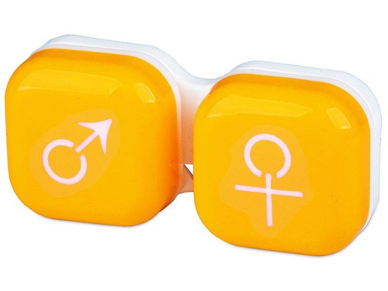Lencse tartó - férfi&nő jelzéssel - sárga