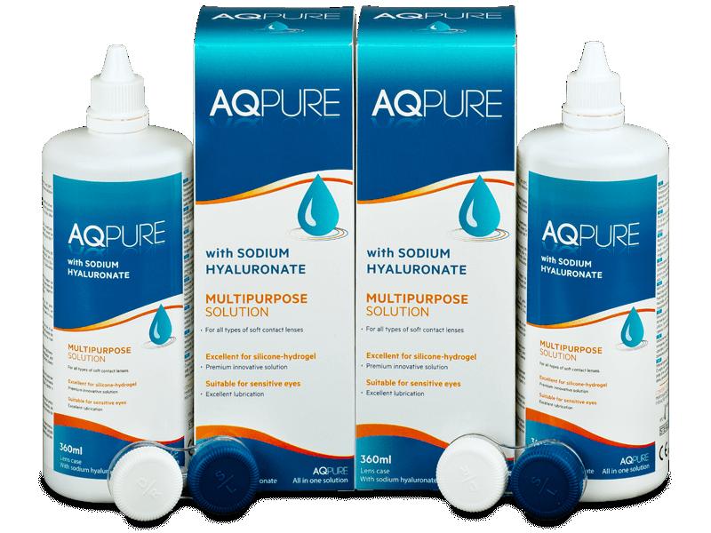 AQ Pure kontaktlencse folyadék 2 x 360ml  - Gazdaságos duo kiszerelés - ápolószer
