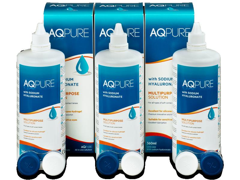 AQ Pure kontaktlencse folyadék 3 x 360ml