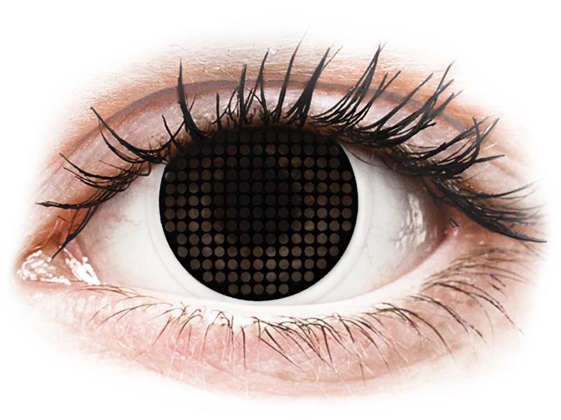 ColourVUE Crazy Lens - Black Screen - dioptria nélkül (2 db lencse)