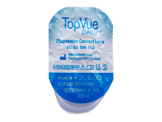 TopVue Daily (10db lencse) - Buborékcsomagolás előnézete