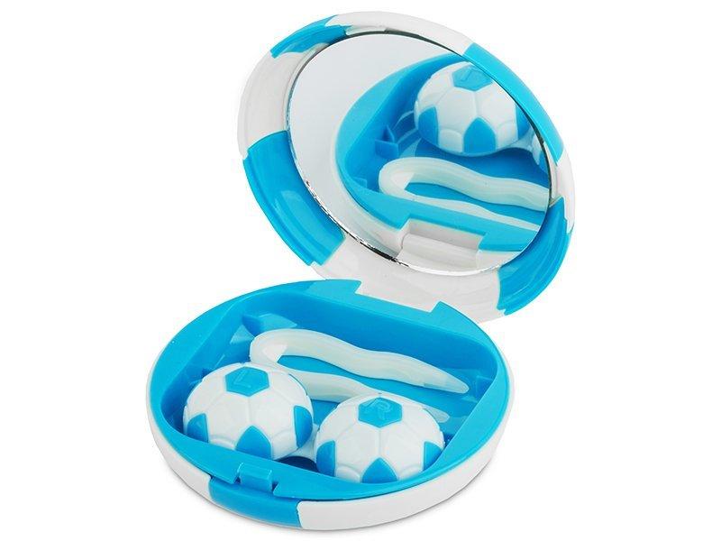 Lencse tartó tükörrel - Futball labda - kék