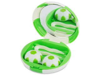 Lencse tartó tükörrel - Futball labda - zöld