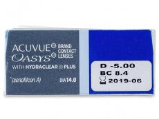 Acuvue Oasys (12db lencse) - Paraméterek előnézete