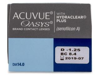 Acuvue Oasys (24 db lencse) - Paraméterek előnézete