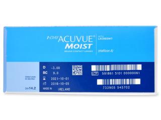 1 Day Acuvue Moist (180db lencse) - Paraméterek előnézete