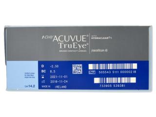 1 Day Acuvue TruEye (180db lencse) - Paraméterek előnézete
