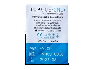 TopVue One+ (5 db lencse) - Buborékcsomagolás előnézete