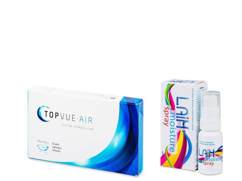 TopVue Air (6 db lencse) + Laim Moisture szemspray - Kedvezményes csomag
