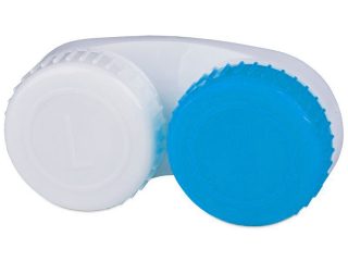 Kék-fehér színű kontaktlencse tartó L+R