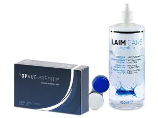 TopVue Premium (12 db lencse) + 400 ml Laim-Care ápolószer