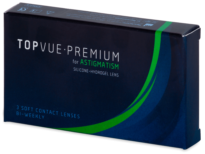 TopVue Premium for Astigmatism (3db lencse) - Tórikus kontaktlencsék