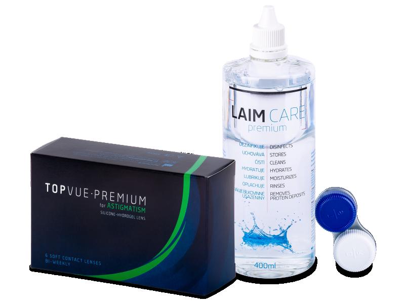 TopVue Premium for Astigmatism (6db lencse) +Laim-Care ápolószer  400ml - Kedvezményes csomag