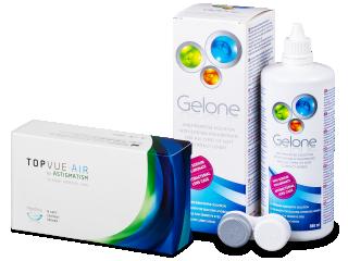 TopVue Air for Astigmatism (6db lencse) + 360 ml Gelone ápolószer