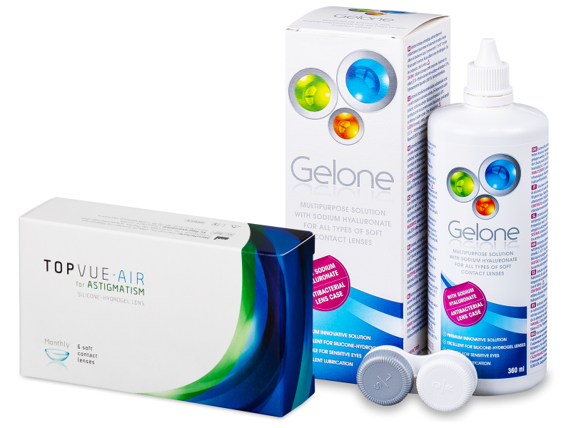 TopVue Air for Astigmatism (6db lencse) + 360 ml Gelone ápolószer - Kedvezményes csomag