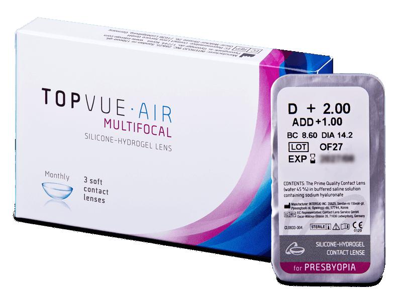 TopVue Air Multifocal (1db lencse) - Multifokális kontaktlencsék