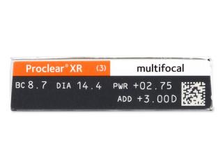 Proclear Multifocal XR (6 db lencse) - Paraméterek előnézete