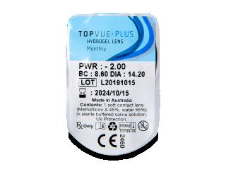 TopVue Monthly Plus (1 db lencse) - Buborékcsomagolás előnézete