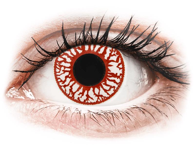 ColourVUE Crazy Lens - Blood Shot - dioptria nélkül napi lencsék (2db lencse) - Coloured contact lenses