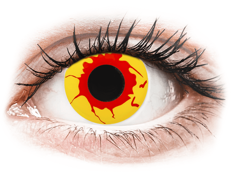 ColourVUE Crazy Lens - Reignfire - dioptria nélkül napi lencsék (2db lencse) - Coloured contact lenses