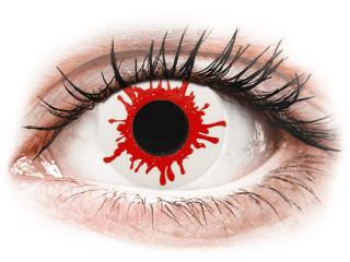 ColourVUE Crazy Lens - Wild Blood - dioptria nélkül napi lencsék (2db lencse)