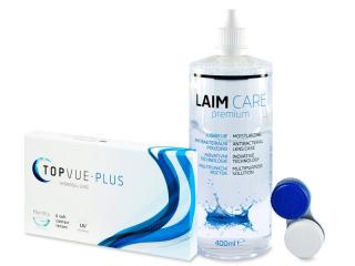 TopVue Monthly Plus (6 db lencse) + LAIM-CAREápolószer 400ml - Korábbi csomagolás