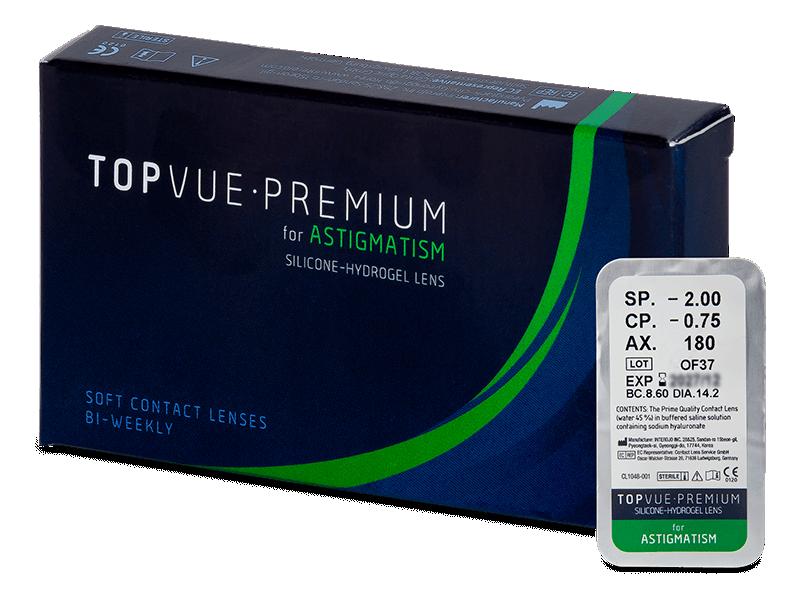 TopVue Premium for Astigmatism (1 db lencse) - Tórikus kontaktlencsék