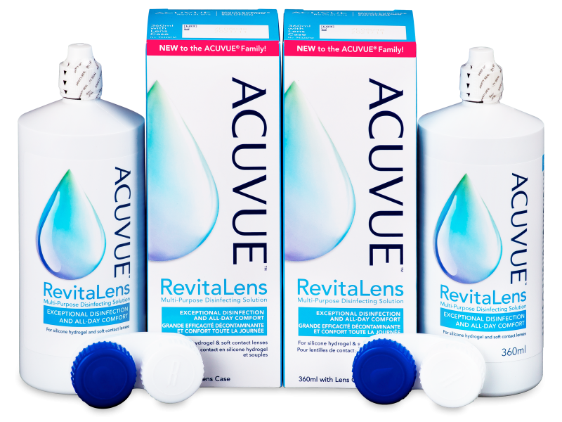 Acuvue RevitaLens ápolószer 2 x 360 ml  - Economy duo pack- solution
