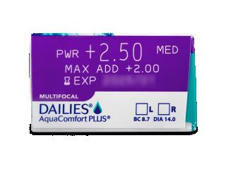 Dailies AquaComfort Plus Multifocal (90db lencse) - Paraméterek előnézete