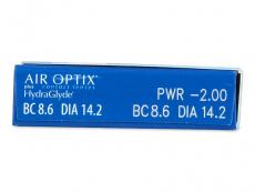 Air Optix plus HydraGlyde (6 db lencse) - Paraméterek előnézete