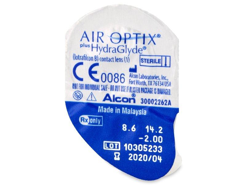 Air Optix plus HydraGlyde (6 db lencse) - Buborékcsomagolás előnézete