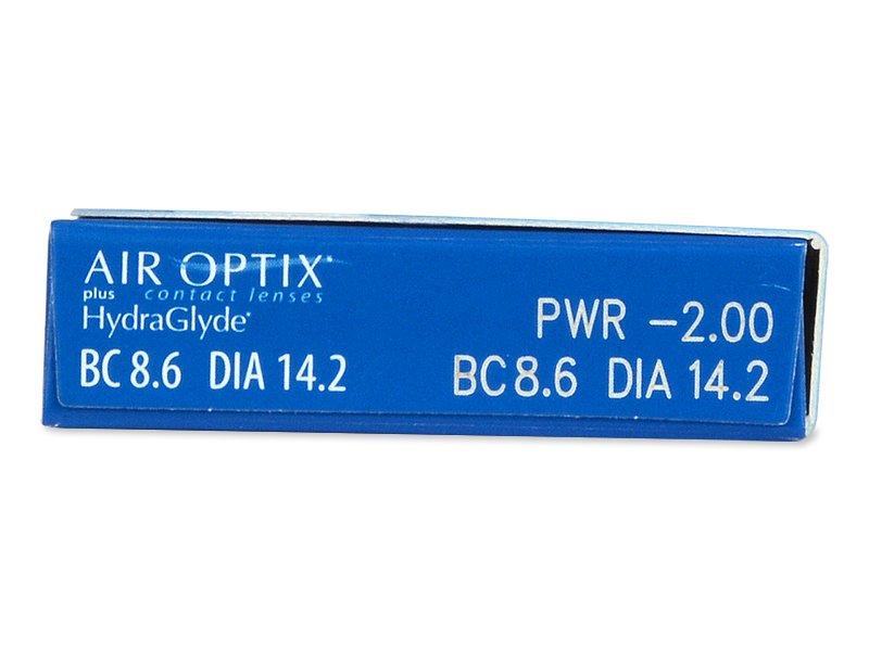 Air Optix plus HydraGlyde (3 db lencse) - Paraméterek előnézete