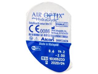 Air Optix plus HydraGlyde (3 db lencse) - Buborékcsomagolás előnézete