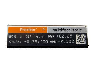 Proclear Multifocal Toric (3 db lencse) - Paraméterek előnézete
