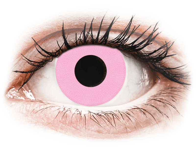 CRAZY LENS - Barbie Pink - dioptriával napi lencsék (2 db lencse) - Coloured contact lenses