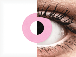 CRAZY LENS - Barbie Pink - dioptria nélkül napi lencsék (2 db lencse)