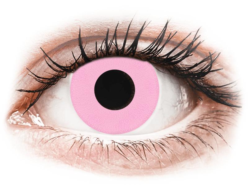 CRAZY LENS - Barbie Pink - dioptria nélkül napi lencsék (2 db lencse) - Coloured contact lenses
